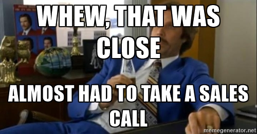 Taking A Sales Call